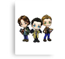 Supernatural - Dean, Sam and Castiel Canvas Print