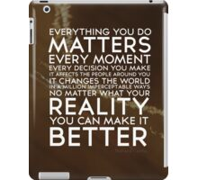 Words To Live By iPad Case/Skin