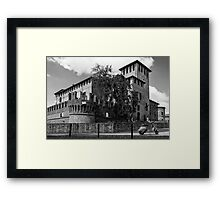 The Vespa by the Castle - Italy Framed Print