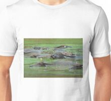 Water Buffaloes Resting in Nasty Green Water Unisex T-Shirt