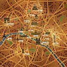 Paris Map by vladstudio