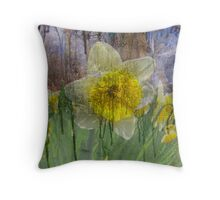 Stained Bloom Throw Pillow