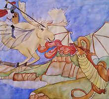 The Girl on the Flying Moose by brusling