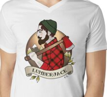 Lumberjack Mens V-Neck T-Shirt