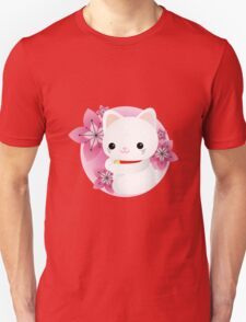 maneki neko and cherry blossom Unisex T-Shirt