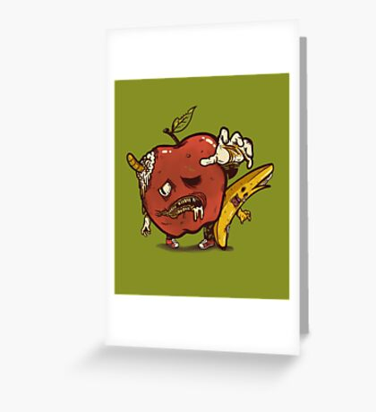 Zombies Fruits Greeting Card
