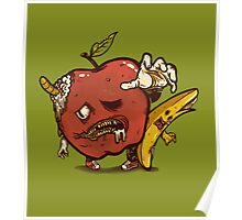 Zombies Fruits Poster