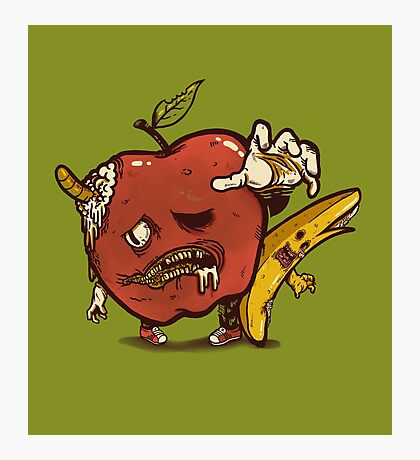 Zombies Fruits Photographic Print