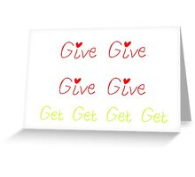 Forgive and Forget Greeting Card