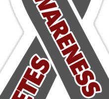 Diabetes Awareness Ribbon Sticker