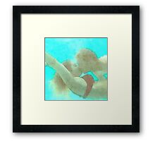 Watercolor - Lovers In The Sea Framed Print