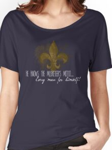 He knows the Musketeer's motto... Women's Relaxed Fit T-Shirt