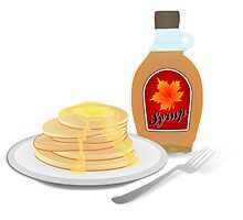 Pancakes with Syrup by NetoboDesigns