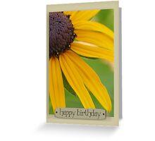 Happy Birthday Black-Eyed Susan Greeting Card