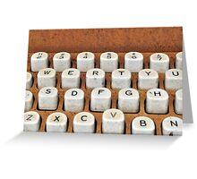 rusty typewriter Greeting Card