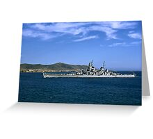 USS Wisconsin BB 64 Greeting Card