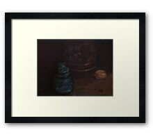 Old insulator and cookie jar Framed Print