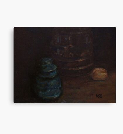 Old insulator and cookie jar Canvas Print