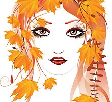 Autumn Girl face 2 by AnnArtshock
