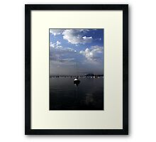 Calm Mooring Framed Print