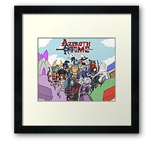 Azeroth time - The Alliance Framed Print
