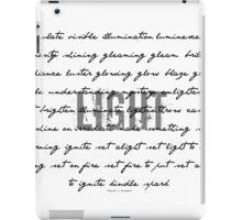 light~ iPad Case/Skin