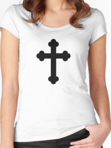 Orthodox Cross or Budded Cross Women's Fitted Scoop T-Shirt
