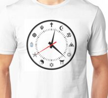 religions clock Unisex T-Shirt
