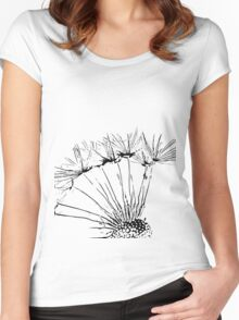 Profile of a Dandelion Women's Fitted Scoop T-Shirt