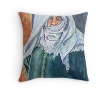 Wisdom behind her veil Throw Pillow