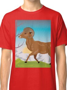 Wild Ram in Mountains 2 Classic T-Shirt