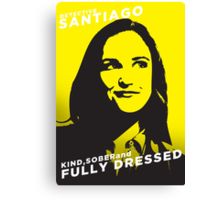 Santiago Kind Sober and Fully Dressed Canvas Print