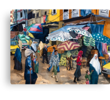 Market Day in Alexandria Canvas Print