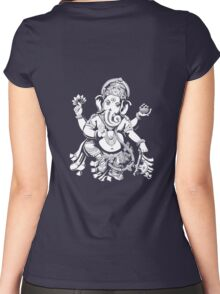 Ganesh designed for dark coloured offset Hoodie Women's Fitted Scoop T-Shirt