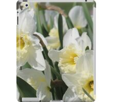 White Daffodils iPad Case/Skin