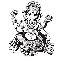 Ganesh designed for light coloured hoodies Photographic Print