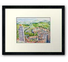 Torre Grossa Framed Print