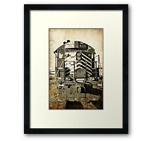 aged train  Framed Print