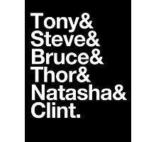 Helvetica- The Avengers Photographic Print