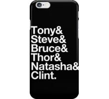 Helvetica- The Avengers iPhone Case/Skin