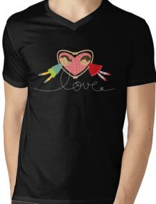Valentine Love Boy Hearts Girl Mens V-Neck T-Shirt
