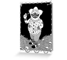Cannibal Clown Greeting Card