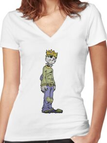 scarecrow king Women's Fitted V-Neck T-Shirt