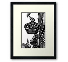 the Stage in Nashville, TN Framed Print