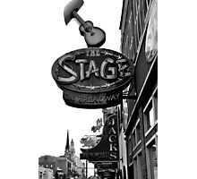 the Stage in Nashville, TN Photographic Print