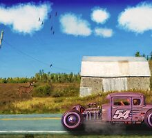 Cruising by the Old Barn by kenmo