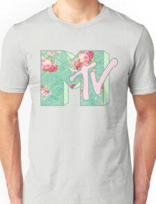 MTV Logo (green floral) Unisex T-Shirt