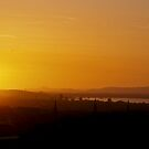 edinburgh sunset from arthur's seat by Mark Reed