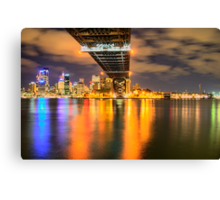 Icon - Moods Of A City #22 - The HDR Series , Sydney Harbour, Australia Canvas Print