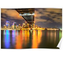 Icon - Moods Of A City #22 - The HDR Series , Sydney Harbour, Australia Poster